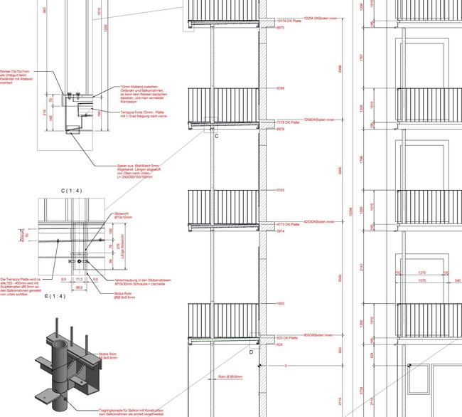 metall werk z rich ag metallbalkone mit gel nder f r. Black Bedroom Furniture Sets. Home Design Ideas